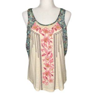 Miss Me Beaded and Embroidered Tank